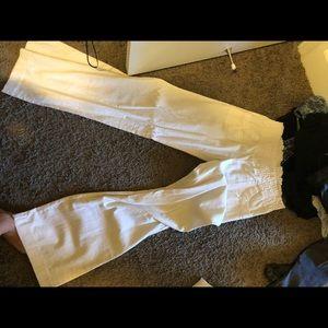Pants - White cotton beach pants